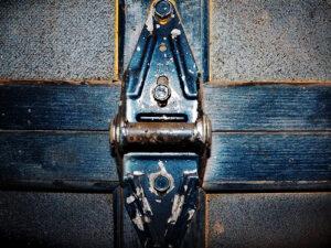 close up of a hinge