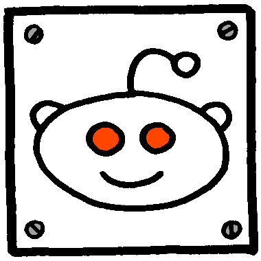 cartoon reddit logo