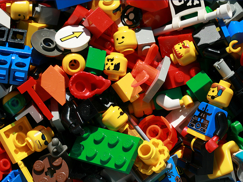 Lego pieces and parts