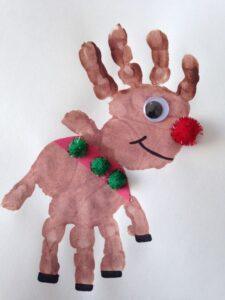 a children's reindeer craft project