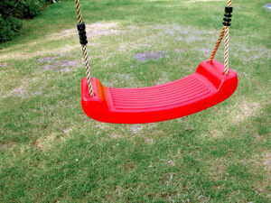 a red swing