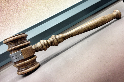 a photograph of a judge's gavel