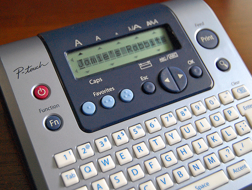 a silver label maker