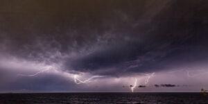 a photograph of a lightning storm