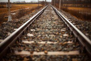 a set of train tracks
