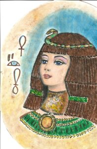 a painting of Cleopatra, Queen of the Nile
