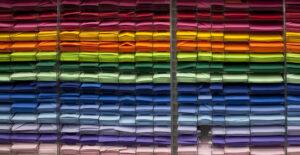 a rainbow assortment of cards