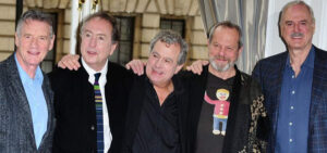 the members of British comedy troupe Monty Python