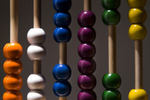 a closeup of an abacus
