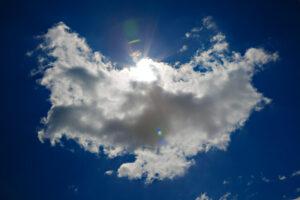 a cloud that's shaped like an angel