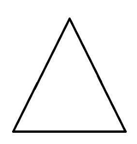 a basic white triangle