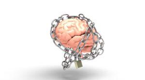 a brain in chains