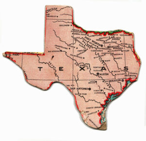 a vintage map of Texas