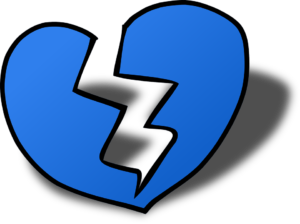 an illustration of a broken heart
