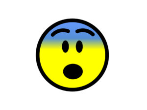 a scared emoji