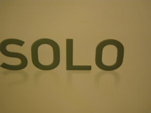 """an image that reads """"SOLO"""""""