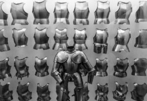 a bunch of knight's armor