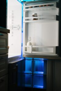 a fridge that's mostly empty