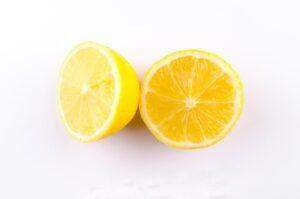 a lemon that's been cut in half