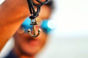 an anchor pendant