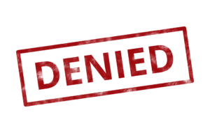 """an image of a red stamp that says """"denied"""""""