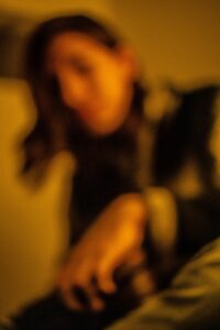 a blurry photo of a person