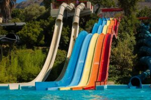 water slides at a water park