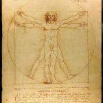 Leonardo da Vinci's vitruvian man, illustrating body proportions